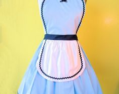 SNOW WHITE inspired retro APRON womens full by loverdoversclothing