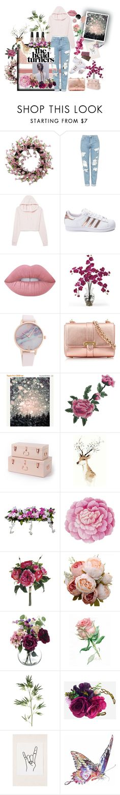 """Head Turners"" by tiffanytma ❤ liked on Polyvore featuring Topshop, adidas, Lime Crime, Aspinal of London, Victoria's Secret, Improvements, Ballard Designs, Paper Whites, Pier 1 Imports and Urban Outfitters"