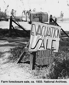Foreclosures  Great Depression just like in our times today and after dec 21,2012 foreclosures will increase in quantity