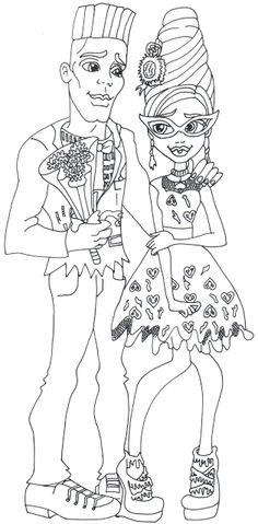 Holt Hyde Monster High Coloring Page Coloring Pages of Epicness