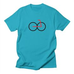 78-bike mens t-shirt in cyan