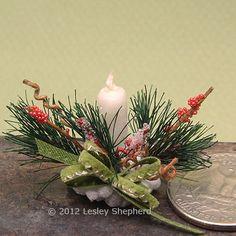 Make Pine Boughs for a Floral Arrangement - miniatures.about.com