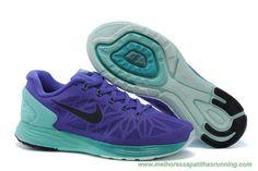sapatilhas running Mulheres Electric Roxo Gamma Verde Preto Nike LunarGlide 6 683652-500