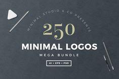 Logo Templates - 250 Minimal Logo Bundle
