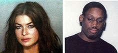 Dennis Rodman and Carmen Electra mugshots