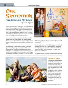 """Our Staycation—Free Rooms and No """"Bored"""" — Ashley Allgood Molly Green Magazine FREE Online!  - Summer 2015 - Page 66"""