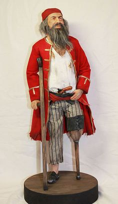 """Портретные куклы ручной работы. Ярмарка Мастеров - ручная работа """"Бывалый корсар"""". Handmade."""