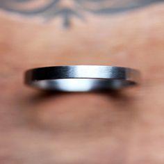 Palladium wedding ring  womens wedding band  thin by metalicious, $248.00