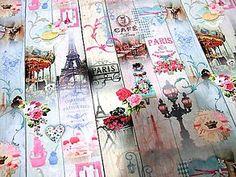 Textil - Bavlnená látka - Paris - Cena za 10 cm - 6640436_