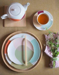 Tiljen tableware and vases by Dagny Fargestudio for Magnor Glassverk Vase, Plates, Tableware, Kitchen, Colour, Licence Plates, Cuisine, Color, Dishes
