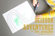 Great tips for teaching children scissor skills - Kids Create: Scissor Adventures + free printables