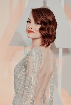 Emma Stone attends the 87th Annual Academy Awards at Hollywood & Highland Center on February 22, 2015 in Hollywood, California.