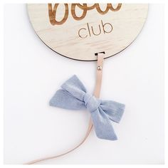 [Can't wait for you all to receive this chambray bow! It's so pretty! Subscribe to our monthly bow club and you will get one too! Select clips headbands or customise a mix of both ]