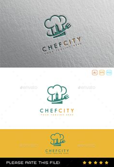 Chef Logo - Download : https://graphicriver.net/item/chef-logo/10054451?ref=pxcr