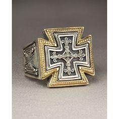 konstantino | Konstantino Zeus Maltese Cross Ring - Polyvore