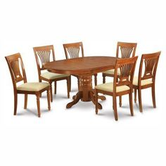 East West Furniture ANNO5OAKW 5 Piece Dining Table for Small