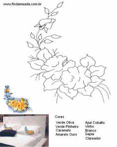 Pintura em tecido desenho de rosas com dicas - Pintura Em Tecido - Venha Aprender Pintura em Tecido