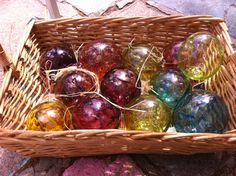 witch balls-18th century english hung these to ward off witchy spells!!