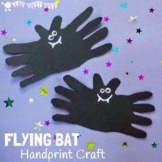 Flying Bat Handprint Craft