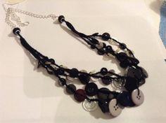 Crocheted Vintage Button Necklace by BornAgainButtons on Etsy, $24.00