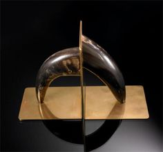 Carl Aubock, Brass and Horn Bookends, c1955.