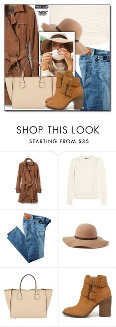 """""""Pack and Go: Winter Getaway"""" by shoaleh-nia ❤ liked on Polyvore featuring Banana Republic, Isabel Marant, AG Adriano Goldschmied, Scala, Moreau and Steve Madden"""