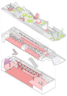 a f a s i a :: Mi5 arquitectos . PKMN architectures TERUEL-ZILLA. Underground Leisure Lair and Public Space | Teruel, Spain >> The proposal for the market square renovation in the historic city centre of Teruel envisages the creation of a large, multi-purpose space used mainly for leisure activities.