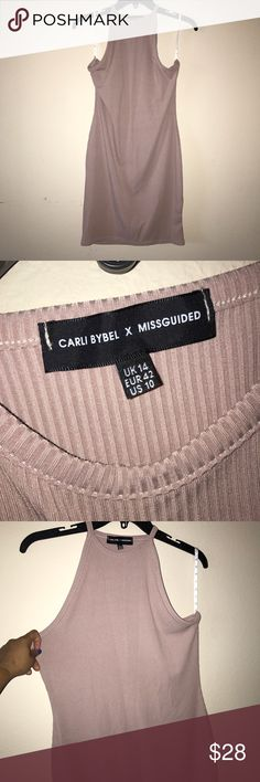 Carli Bybel X Missguided bodycon. NEW! Mauve/blush toned bodycon dress from missguided. Part of the Carli Bybel collection. Never been worn. Missguided Dresses Mini
