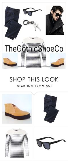 """""""TheGothicShoeCo 9"""" by nermina-cebic ❤ liked on Polyvore featuring TravelSmith, Witchery, DKNY, Lacoste, men's fashion and menswear"""