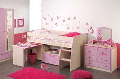 """Photo Search Results for daughter's room decor"""" - Log Bedroom Furniture, Childrens Bedroom Furniture, Kids Room Furniture, Kids Bedroom Sets, Childrens Beds, Bedroom Ideas, Bedroom Decor, American Girl Doll Bed, Toddler Furniture"""