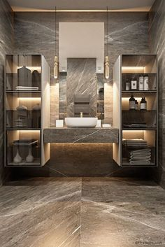 Modern Design and Living Come get amazed by the best bathroom lighting inspiration. See our luxury l Bathroom Lighting Inspiration, Best Bathroom Lighting, Vanity Lighting, Dream Bathrooms, Amazing Bathrooms, Luxury Bathrooms, Master Bathrooms, Master Baths, Large Bathrooms
