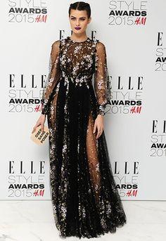 Red carpet looks from the Elle UK Style Awards 2015: Isabeli Fontana