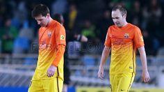 Messi & Iniesta, FC Barcelona | Real Sociedad 3-2 FC Barcelona. [2013-01-19]