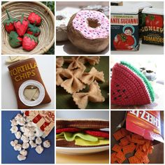 """15 DIY Toy Food Ideas Your Kids Will Love. Stock the play kitchen and pantry with """"real food"""" that aren't made from plastic. Children will love to help as well as play with these ingenious creations. Projects For Kids, Diy For Kids, Crafts For Kids, Felt Projects, Toddler Crafts, Homemade Toys, Homemade Gifts, Diy Play Kitchen, Play Kitchens"""