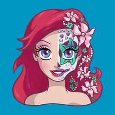 Awesome 'Sugar+Skull+Series%3A+Ariel' design on TeePublic!