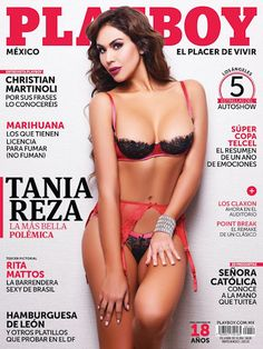Playboy (Mexico) January 2016  with Tania Reza on the cover of the magazine