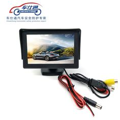 4.3 inch TFT LCD Parking Car Rear View Monitor Car Rearview Backup Monitor 2 Video Input for Reverse Camera DVD