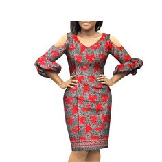 Spring new arrival casual pencil three quarter sleeve knee-length women dress 2018 spring new arrival casual pencil three quarter lantern sleeve knee-length women dress African Fashion Ankara, Latest African Fashion Dresses, African Print Fashion, Women's Fashion Dresses, Short African Dresses, African Print Dresses, African Dress Designs, African Design, African Dress Styles