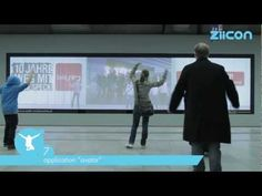 "World´s first gesture tracking system life on the market ""ZIICON"" - Interactive Digital Signage"
