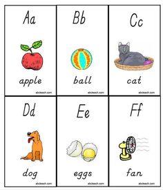 13 Sets of Free, Printable Alphabet Flash Cards for Preschoolers: Printable Alphabet Flash Cards by ABC Teach