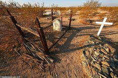 The Mother Road's cemeteries lay in a state of disrepair. Located on lonely hillsides, out of sight of the few cars that still travel the legendary road; they are the final resting place for those who came West, searching for a better life. Broken gates, dangling barbwire, and tilted wooden crosses are the first signs of our National Trails Highway cemeteries demise!