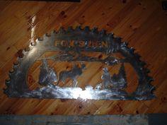 56 inch saw blade sign.  www.custommetaldesigns.webs.com