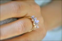 Amethyst Spike Ring LOVE LOVE LOVE