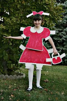 Paper doll costume...how darling!