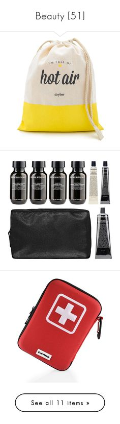 """""""Beauty [51]"""" by gdavilla ❤ liked on Polyvore featuring beauty products, haircare, hair styling tools, blow dryers & irons, no color, toiletry bag, dop kit, travel bag, travel toiletry case and travel kit"""