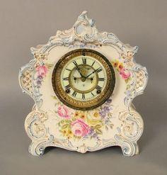 Porcelain Mantle Clock Royal Bonn | #119789614