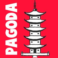how to draw a japanese pagoda