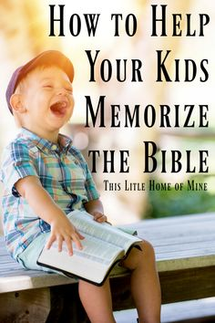 How to Help Your Kids Memorize the Bible by This Little Home of Mine