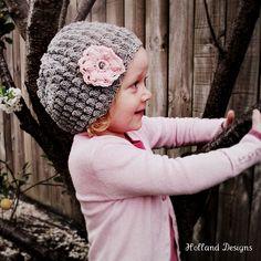 Cute puff stitch hat
