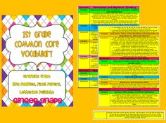Ginger Snaps: 1st Grade Common Core Math Word Cards!!!!